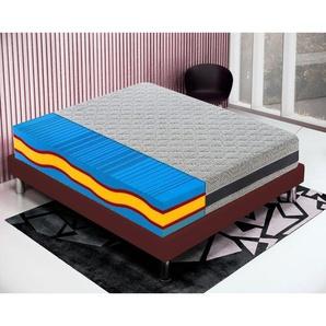 Memory foam Matratze 200x200 Memoryschaum Höhe 23 cm mit 5 Schichten und abziebahren Bezug - MATERASSIEDOGHE