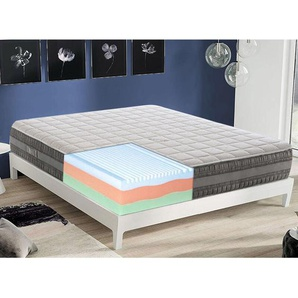 Gel Memory foam Matratze 160x190cm mit 3 Schichten und abziebahren Bezug - MATERASSIEDOGHE