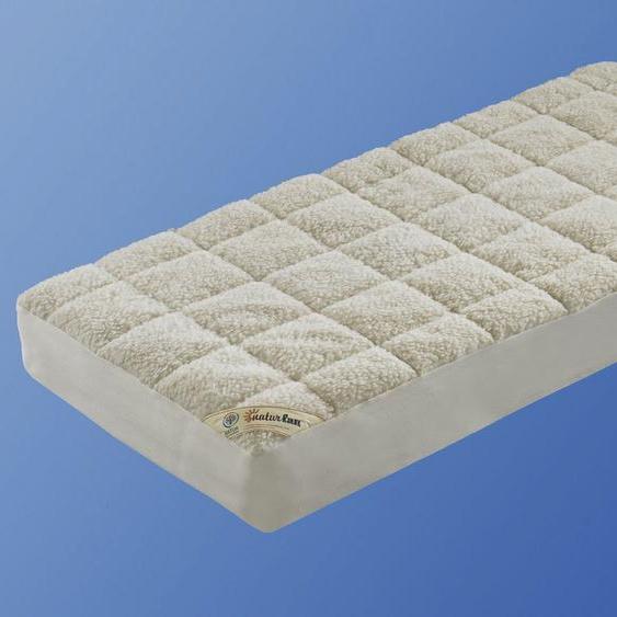 Matratzenauflage »Unterbett Lammflor mit Spannauflage«, f.a.n. Frankenstolz, 2,7 cm hoch, Wollmischung, hohe klimaregulierende Wirkung