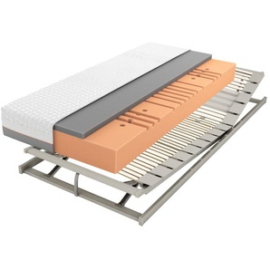 Matratzenset Geltex Starline X7, Härtegrad 2, Lattenrost ComFEEL 40 Plus KF