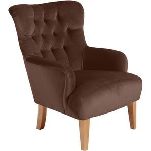Max Winzer® Chesterfield-Sessel »Bradley«, mit edler Knopfheftung
