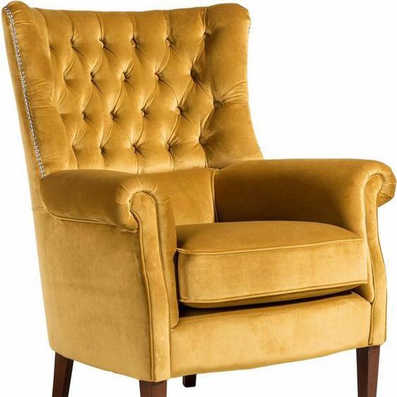 Max Winzer® Chesterfield-Sessel »William«, mit Knopfheftung und Ziernägeln, Hochlehner
