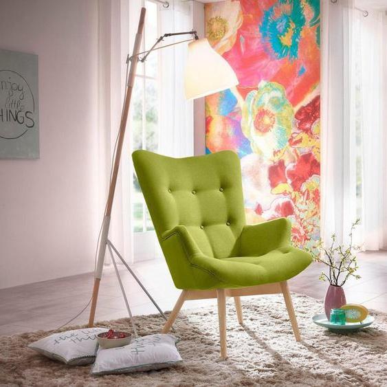 Max Winzer® Sessel »Arne«, in Schalenform, im Retrolook, Hochlehner
