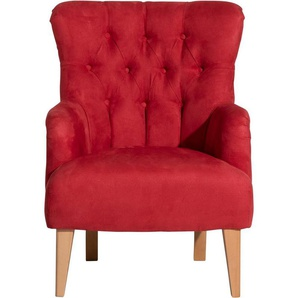 Max Winzer® Sessel »Bradley«, im Chesterfield Stil, mit Rautenheftung im Rücken, Hochlehner