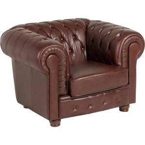 Max Winzer® Sessel »Bristol«, mit edler Knopfheftung, Breite 110 cm