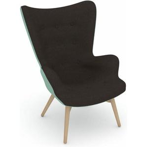 Max Winzer® Sessel »build-a-chair Arne«, im Retrolook, zum Selbstgestalten, Hochlehner