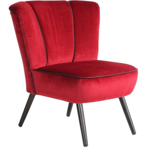 Max Winzer® Sessel »Enzo«, im Retrolook, mit Kunstleder-Ziernaht