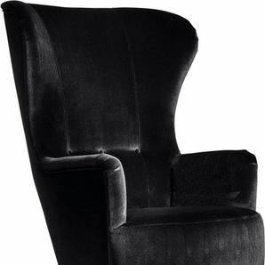 Max Winzer® Sessel »Liana«, im Retrostil, mit Knopfheftung, Hochlehner