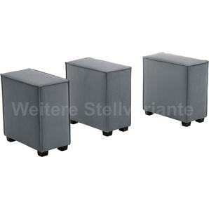 Max Winzer Wohnlandschaft MOVE, Sofa-Set 11 aus 3 Sitz-Elementen, individuell kombinierbar - Einzelsitze oder 1 Hocker B/T: 90 cm x 60 cm, Flachgewebe 16525 grau Sofas Couches Möbel sofort lieferbar