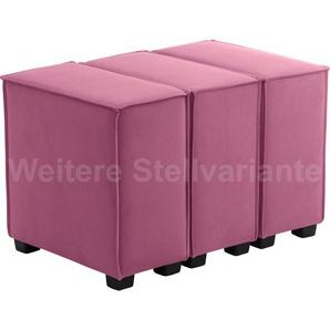 Max Winzer Wohnlandschaft MOVE, Sofa-Set 11 aus 3 Sitz-Elementen, individuell kombinierbar - Einzelsitze oder 1 Hocker B/T: 90 cm x 60 cm, Flachgewebe 16525 rosa Sofas Couches Möbel sofort lieferbar