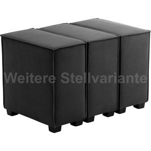 Max Winzer Wohnlandschaft MOVE, Sofa-Set 11 aus 3 Sitz-Elementen, individuell kombinierbar - Einzelsitze oder 1 Hocker B/T: 90 cm x 60 cm, Flachgewebe 16525 schwarz Sofas Couches Möbel sofort lieferbar