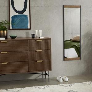 Maxine Spiegel (40 x 120 cm), Mangoholz und Schwarz