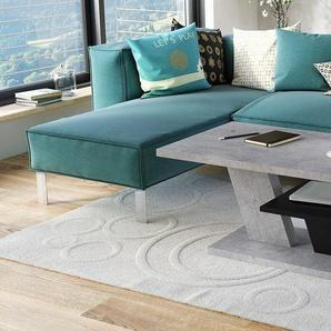 Mazzoni Couchtisch »Design Couchtisch Cliff Beton Betonoptik / Schwarz matt Tisch Wohnzimmertisch 110x60x45cm mit Ablagefläche«