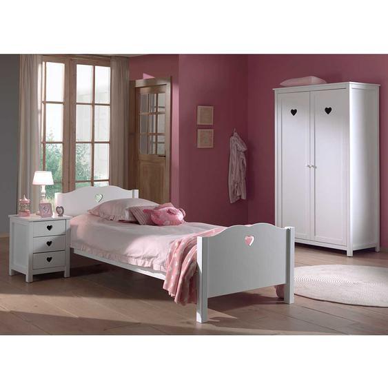 Möbel für Jugendzimmer Weiß (3-teilig)