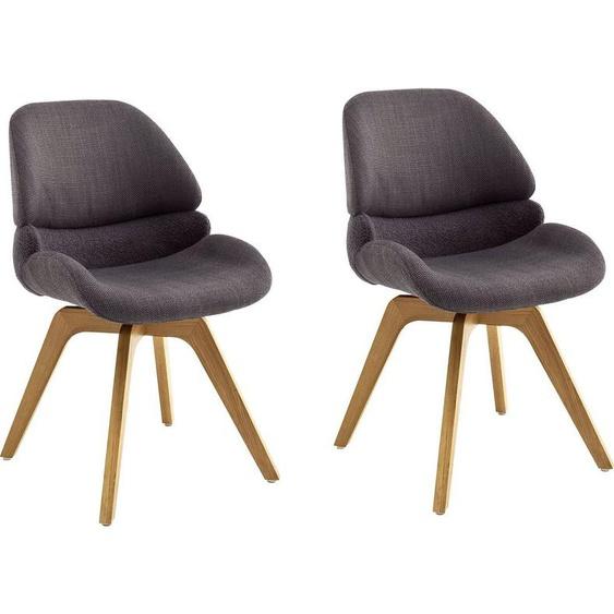 MCA furniture Esszimmerstuhl »Henderson« (Set, 2 Stück), 180° drehbar mit Nivellierung, mit Feinflor Absetzung mittig, Belastbar bis 120 kg