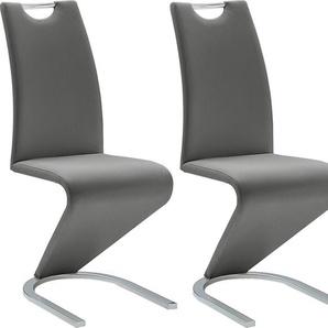 MCA furniture Freischwinger Amado, 2er-, 4er-, 6er-Set, Stuhl belastbar bis 120 Kg B/H/T: 45 cm x 102 62 cm, 2 St., Kunstleder uni, Set grau Stühle Sitzbänke