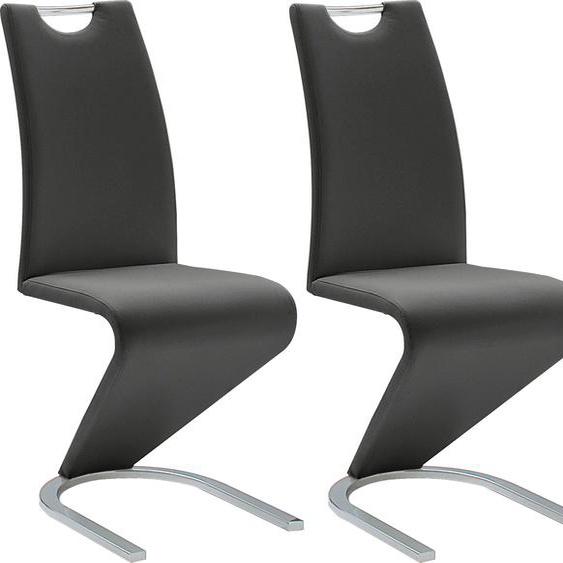 MCA furniture Freischwinger Amado, 2er-, 4er-, 6er-Set, Stuhl belastbar bis 120 Kg B/H/T: 45 cm x 102 62 cm, 2 St., Kunstleder uni, Set schwarz Stühle Sitzbänke