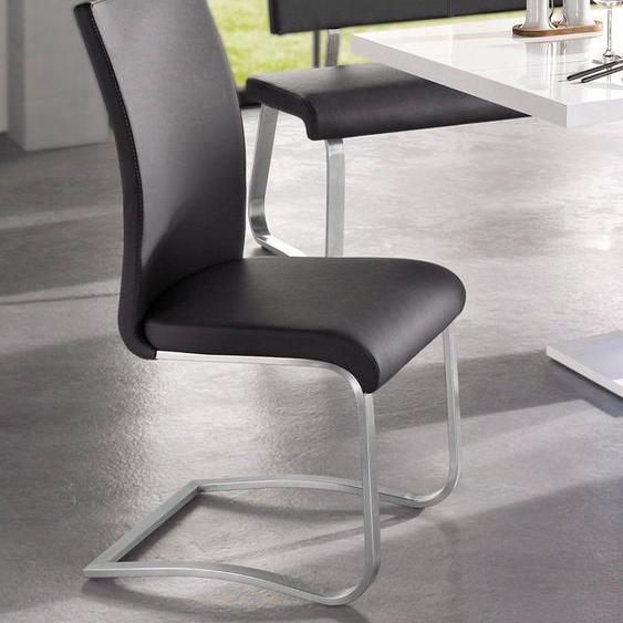 MCA furniture Freischwinger »Arco« 2er-Set, Stuhl mit Echtlederbezug, belastbar bis 130 Kg