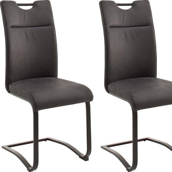 MCA furniture Freischwinger »Zagreb« (Set, 2 Stück), Esszimmerstuhl mit Lederbezug, Belastbar bis 120 kg