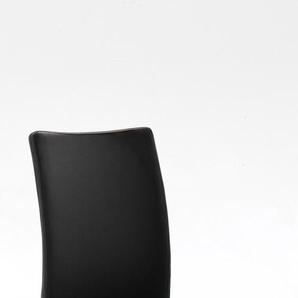 MCA Furniture Schwingstuhl Arco 2 Echt Leder schwarz