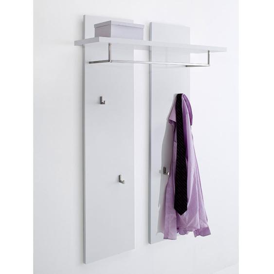 MCA Ocean Garderobenpaneel 91x25x135cm  Hochglanz Lack Weiß