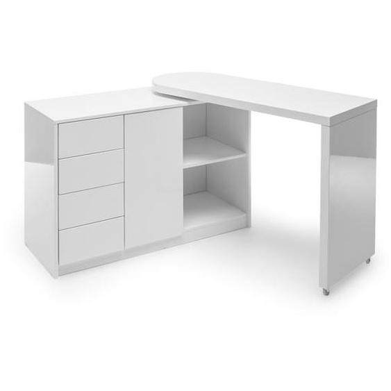 MCA Schreibtisch, Weiß, Lack / Hochglanz