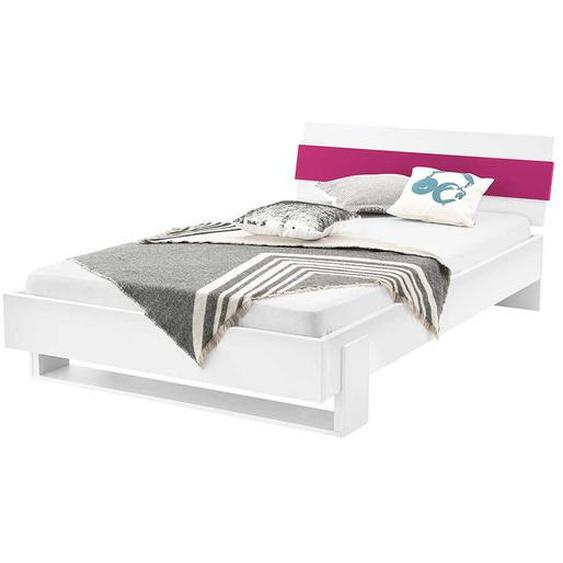 Mädchenbett in Weiß Pink modern