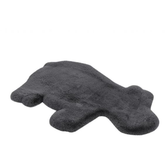 me gusta Kinderteppich Lovely Kids 325-Hippo, tierförmig, 36 mm Höhe, weiche softe Haptik, Kunstfell, Wohnzimmer 55x90 cm, grau Shaggy-Teppiche Hochflor-Teppiche Teppiche