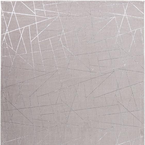 me gusta Teppich Bijou 125, rechteckig, 20 mm Höhe, Glanz Effekt, Wohnzimmer 160x230 cm, silberfarben Schlafzimmerteppiche Teppiche nach Räumen