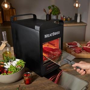 »MeatBoss« elektrischer Hochtemperaturgrill bis zu 850 °C - Schwarz - Edelstahl -