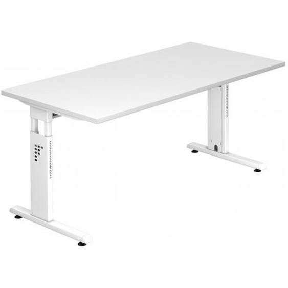 MEGA 16 W - 160 x 80 höhenverstellbar Weiß/Weiß