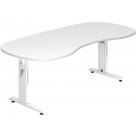 MEGA 20 W - 200 x 100 höhenverstellbar Weiß/Weiß