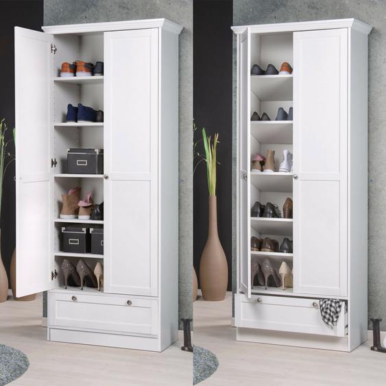 Mehrzweckschrank Landwood Schuhschrank Schrank In Weiß Mit 2 Türen