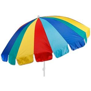 Meinposten Sonnenschirm »Strandschirm UV Schutz 50+ großer Schirm BUNT knickbar Ø 190 cm«, abknickbar, mit Tragetasche