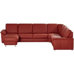 meinSofa Leder-Wohnlandschaft rot - Leder Carolin ¦ rot ¦ Maße (cm): H: 91 Polstermöbel  Sofas  Wohnlandschaften » Höffner
