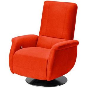meinSofa Relaxsessel orange - Stoff Felix-S ¦ orange