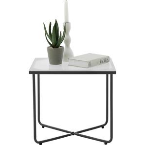meise.möbel Nachttisch Boston, mit Glasplatte B/H/T: 44 cm x 41 35 grau Nachtkonsolen und Nachtkommoden Nachttische Tische