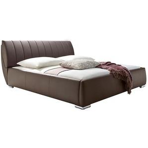 meise.möbel Polsterbett Bern 180x200 cm Kunstleder Braun mit Bettkasten/Lattenrost
