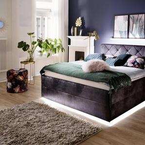 meise.möbel Polsterbett, Schwarz, Stoff 180 x 200 cm