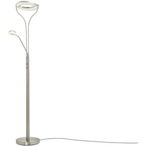 KHG LED-Deckenfluter, 2-flammig, Chrom | silber | 28 cm | 180 cm | Möbel Kraft