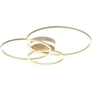 Meisterleuchten LED-Deckenleuchte, 3 Ringe, alufarben ¦ silber
