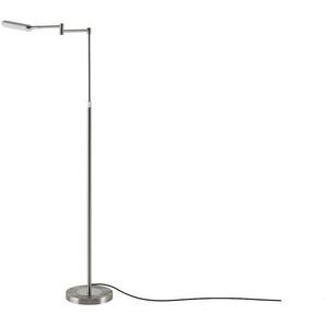Meisterleuchten LED-Leseleuchte, 1-flammig, nickel-matt ¦ silber ¦ Maße (cm): B: 22 H: 130
