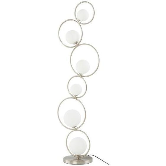 Meisterleuchten Stehleuchte, 6-flammig, Nickel-matt mit Glaskugeln - silber | Möbel Kraft