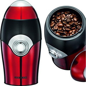 Melissa 16120015, Kaffeemühle,Gewürzmühle, elektrisch,150 Watt Power Leistung,Schlagwerk,Edelstahl gebürstet,Rot Metallic