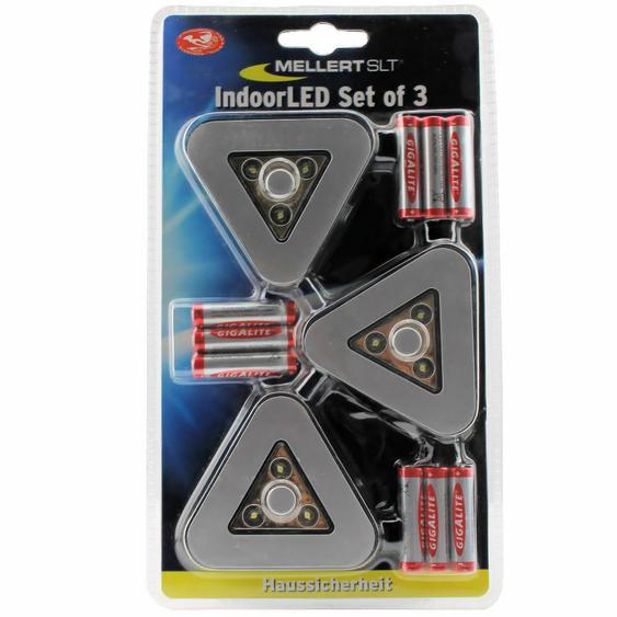 Mellert Led Indoor Klebeleuchte Silber 3er Schranklicht Treppenlicht