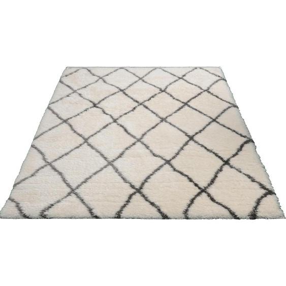 merinos Hochflor-Teppich Floki 80075, rechteckig, 70 mm Höhe, Besonders weich durch Microfaser, Wohnzimmer B/L: 200 cm x 290 cm, 1 St. beige Esszimmerteppiche Teppiche nach Räumen