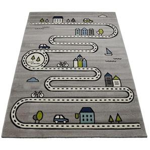 merinos Kinderteppich Indigo Kids 22710, rechteckig, 18 mm Höhe, Wohnzimmer B/L: 140 cm x 200 cm, 1 St. grau Kinder Kinderzimmerteppiche Teppiche nach Räumen