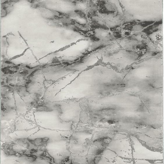 merinos Teppich Craft 23270, rechteckig, 12 mm Höhe, Wohnzimmer, Marmor Optik B/L: 200 cm x 290 cm, 1 St. grau Schlafzimmerteppiche Teppiche nach Räumen