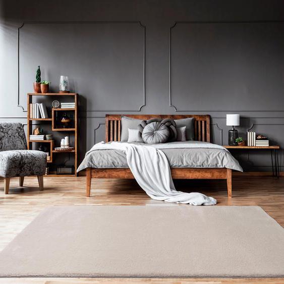 merinos Teppich Fuzzy 27, rechteckig, 30 mm Höhe, Wohnzimmer 200x290 cm, beige Schlafzimmerteppiche Teppiche nach Räumen
