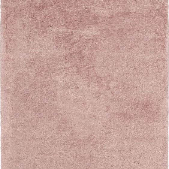 merinos Teppich Fuzzy 27, rechteckig, 30 mm Höhe, Wohnzimmer 200x290 cm, rosa Schlafzimmerteppiche Teppiche nach Räumen